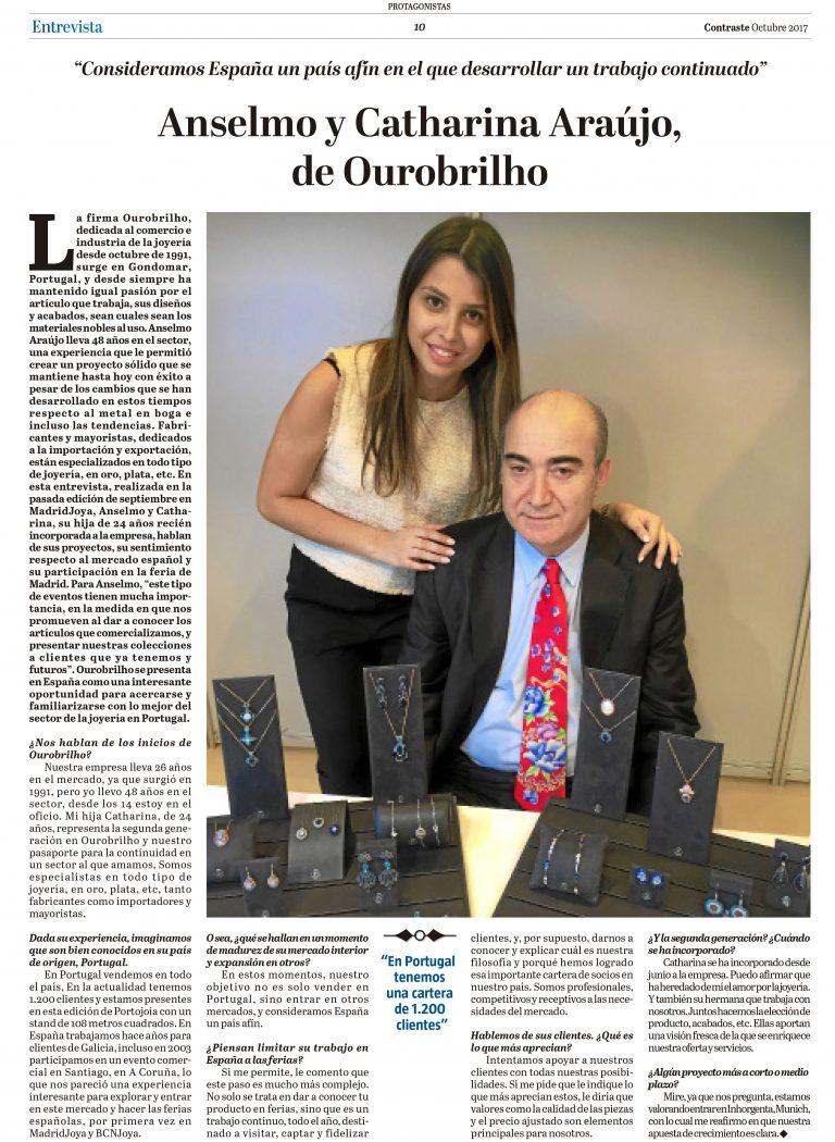 Entrevista dada na Madrid Joya para jornal espanhol Contraste